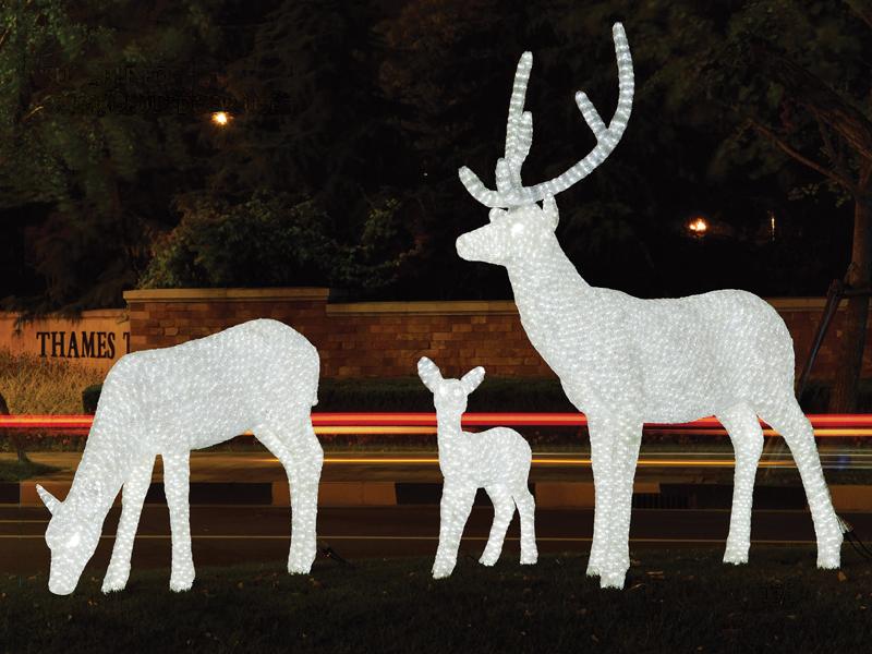 Светящиеся фигуры для улицы своими руками